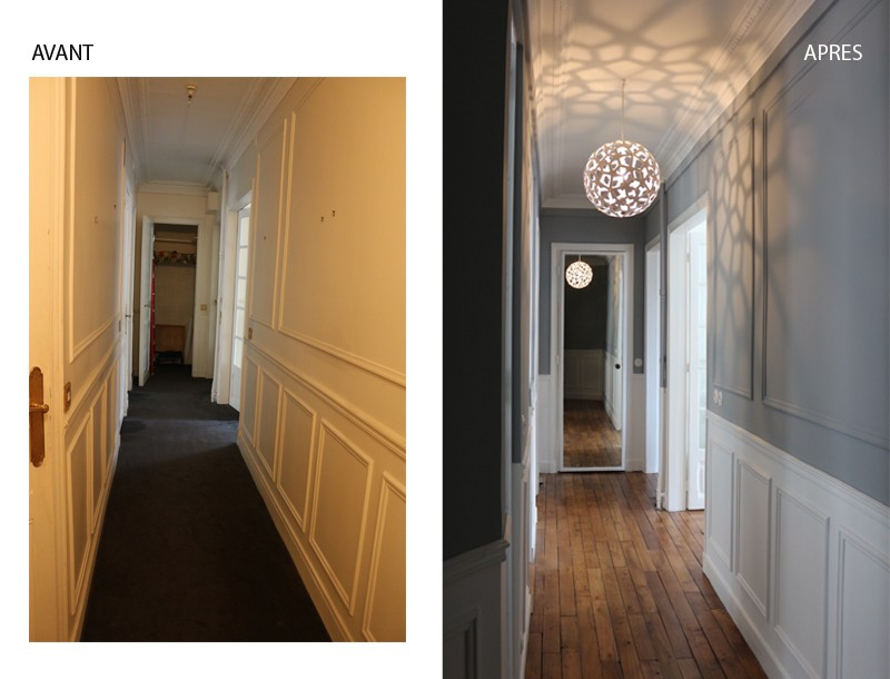 A Paris, moderniser un appartement haussmannien de 60m2 - Decor ...