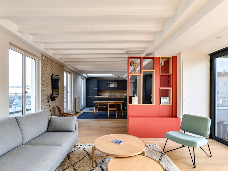 7_Daumesnil-Vue salon vers cuisine