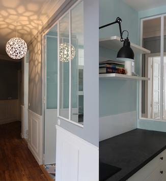 Entrée et cuisine appartement Paris